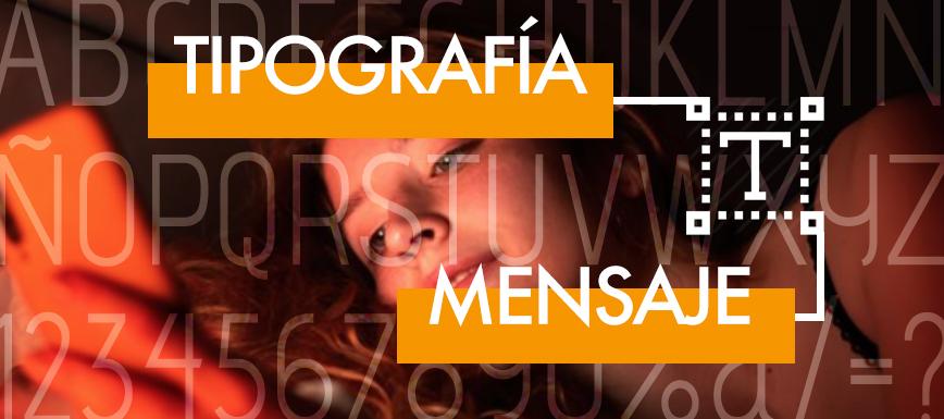 Tipografía mensaje