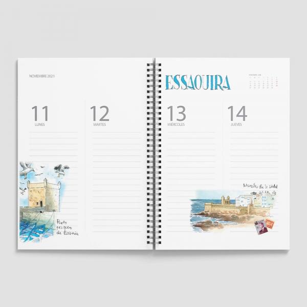 Agenda creativa de viajes dare to trip
