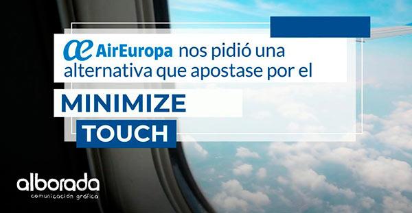 Campaña Minimize touch de AirEuropa