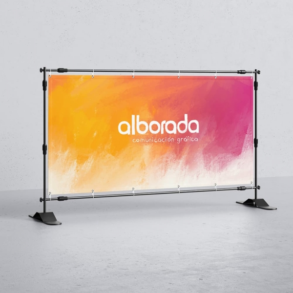 Lona publicitaria para eventos y photocalls