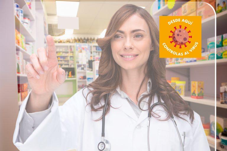 Mampara virus farmaceútica
