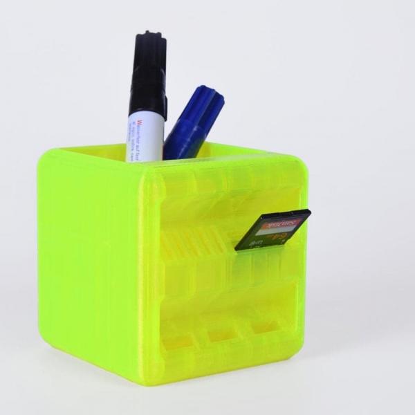 Portalápices Cubo impresión 3D