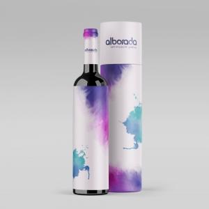 Caja botellas acuarelas